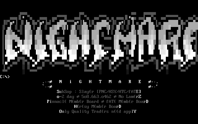 Nightmare BBS (11) - Demozoo