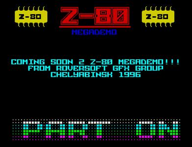 [Screenshot - Z80 Megademo]