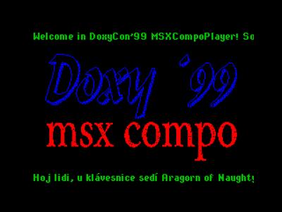 [Screenshot - DoxyCon'99 MSX Compo Player]