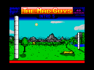 [Screenshot - The Mad Guys Intro 5 48K]