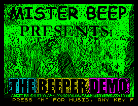 [Screenshot - The Beeper Demo]