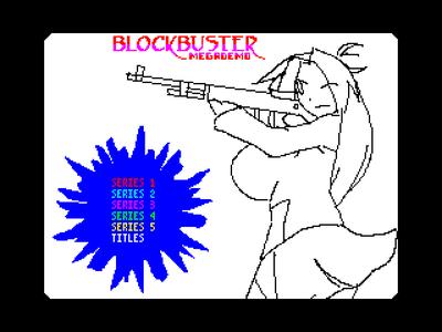 [screenshot of Blockbuster Megademo]