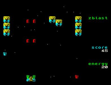 [screenshot of zblast SD]