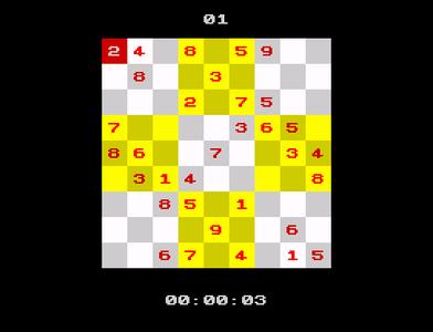 [screenshot of ZX Sudoku]