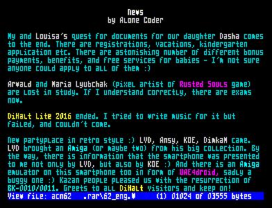 [Screenshot - ACNews #62]