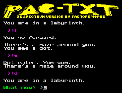 [Screenshot - Pac-TXT]