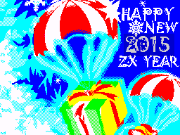 [screenshot of HAPPY NEW 2015 ZX YEAR]