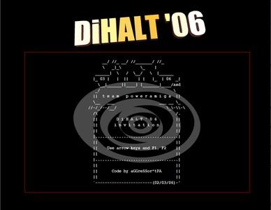 Screenshot for DiHalt'2006 invitation