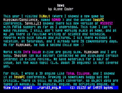 [Screenshot - ACNews #63]