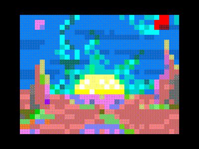 [screenshot of Созданная планета / Crafted planet]