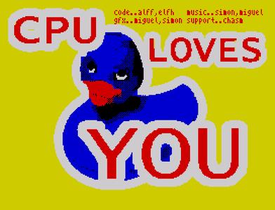 [Screenshot - CPU loves you!]