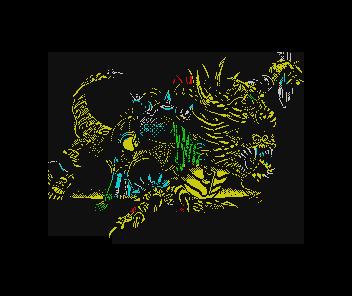 [Screenshot - Velesoft's Dragon in Giga Screen Simulator]