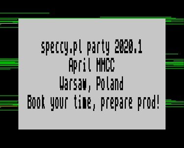 [Screenshot - Speccy.pl Party 2020.1 Invitation]