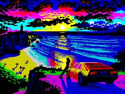 [screenshot of Cliff Sunset]