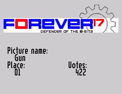 [Screenshot - Forever 2016 ZX Spectrum graphics player]
