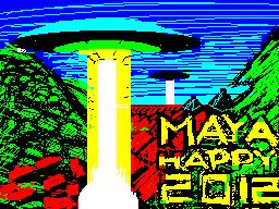 [screenshot of Maya Wishes You Happy 2012]