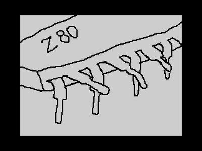 [Screenshot - Z80 танцует канкан / Z80 dancing cancan]