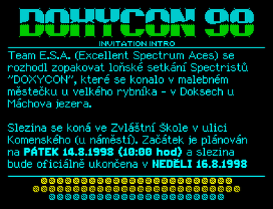 [Screenshot - Doxycon 98 Invitation Intro]