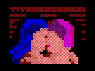 [screenshot of Поцелуй / Kiss]