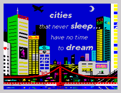 [Screenshot - Cities that never sleep have no time to dream]