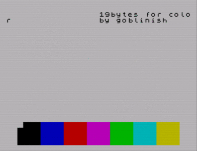 [screenshot of 19 bytes for color]
