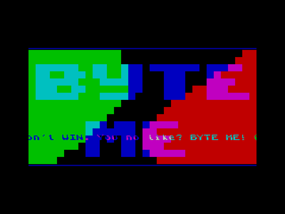 [screenshot of Byte Me!]