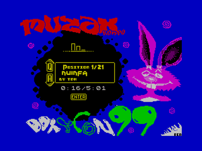 [Screenshot - DoxyCon'99 MSX Compo Player]
